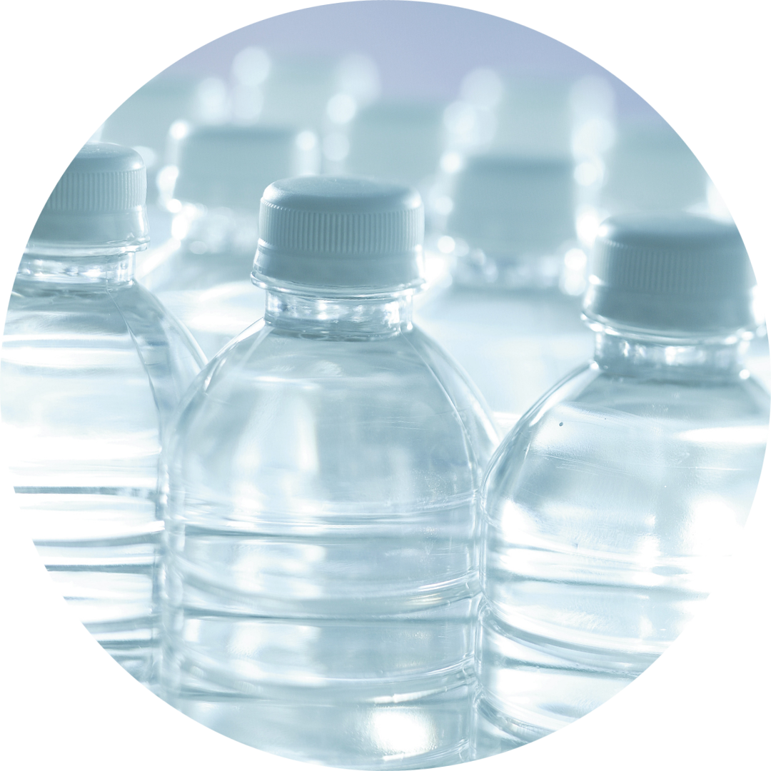 Bottled water</br> containers of 1L or below